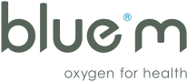 logo bluem, oxygen for health