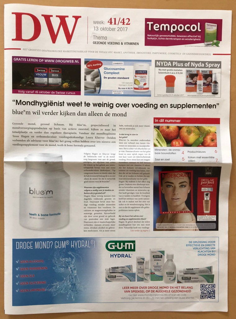 bluem® in de pers: Drogisterij weekblad