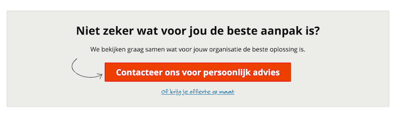 goede call to action button