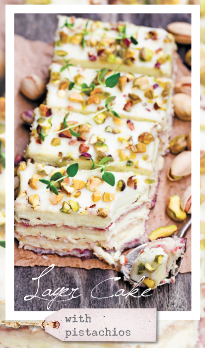 Layer Cake with pistachios