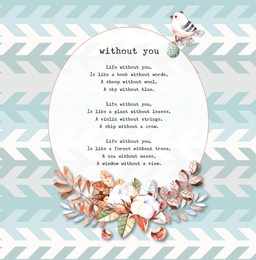 poem without you
