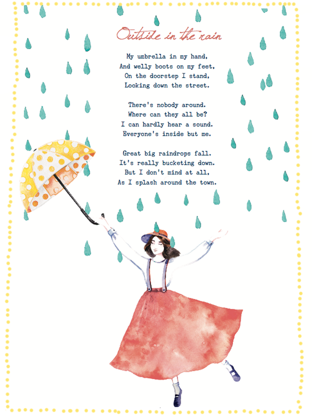 Poem outside in the rain
