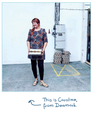 Caroline lives on the island of Funen in Denmark, with her daughter, cat and four chickens. She has her own workshop in a large industrial building close to her home. And that's where she makes beautiful tableware.