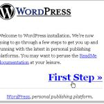 wordpress blog start
