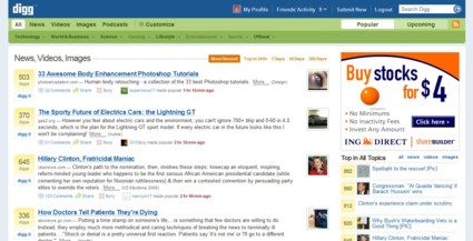 social bookmarking digg No 1