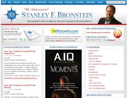 Stanley Bronstein Mr. Achievement