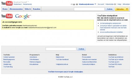 youtube-account-gemaakt