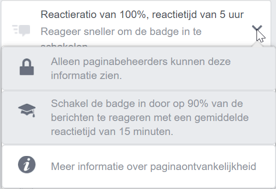 reactiesnlheid badge facbook pagina
