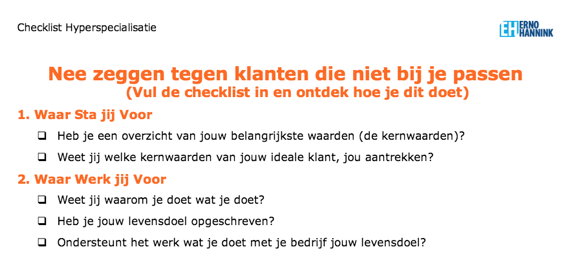 Gratis Checklist Hyperspecialisatie - download