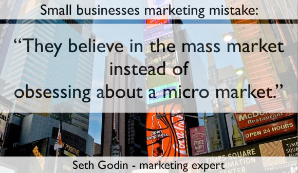 Small businesses fail - seth godin - hyperspecialisatie