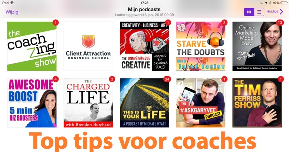 top tips podcasts voor coaches