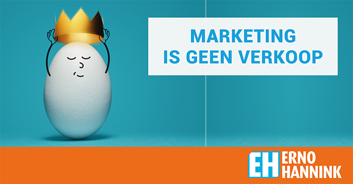 Marketing geen verkoop
