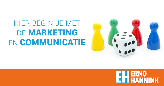 Hier begin je met de marketing en communicatie