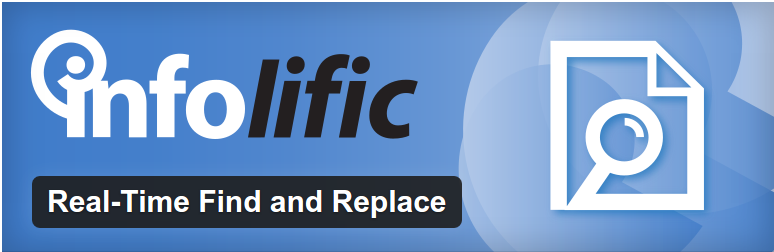 Real-Time Find and Replace Set up find and replace rules that are executed AFTER a page is generated by WordPress