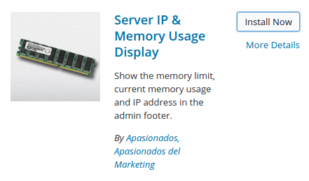 Plugin Server IP & Memory Usage Display