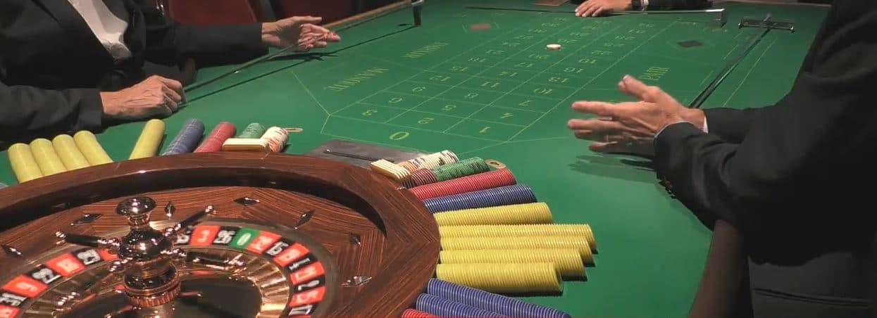 Roulette in een casino