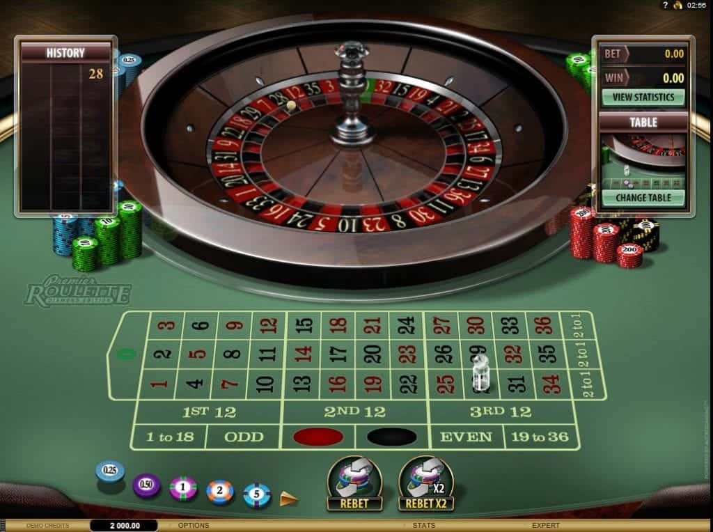 Diamond Roulette Premier flash variant van Microgaming