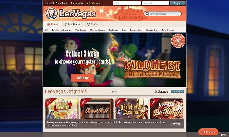 Leovegas website
