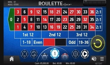 afbeelding van roulette touch