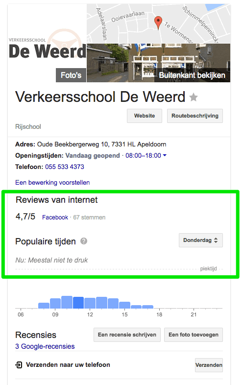 Enkel recensies van Google en Facebook