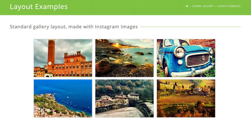 global photo gallery wordpress